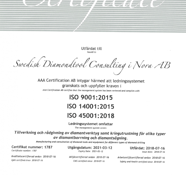 In august we became ISO-certified